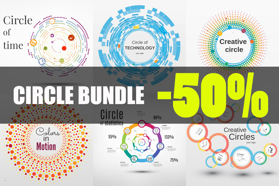 Circle template bundle Prezi templates creative theme