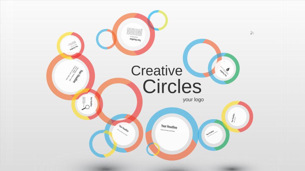 Círculos Creativos Plantilla Prezi Creatoz Colección