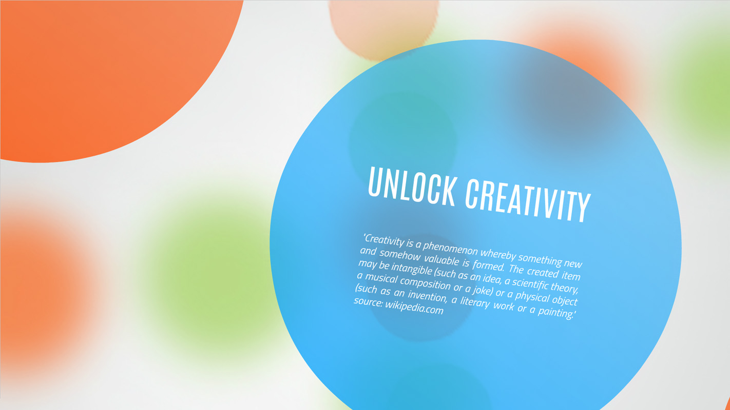 Creativity unlock Presentation template
