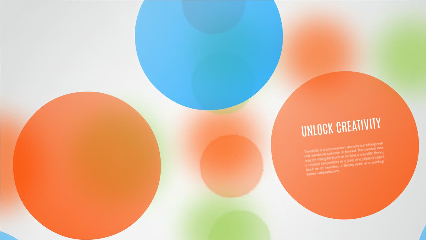 Creativity unlock Presentation template