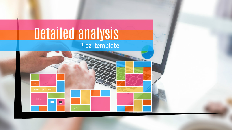 Detailed Analytics Prezi template from Prezibase