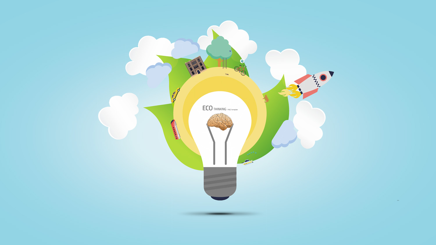 Eco Thinking Prezi template from Prezibase
