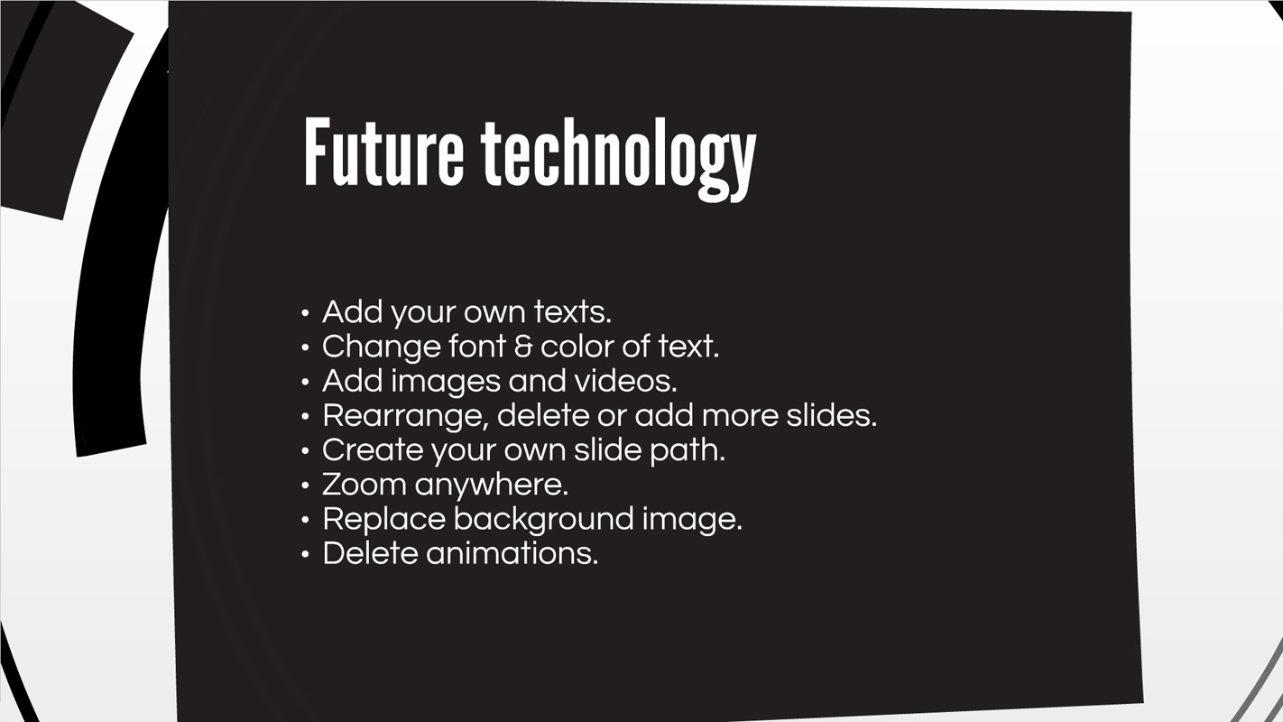 Future Technology circle presentation template