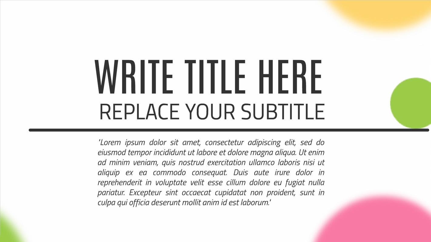 Graphic design presentation template