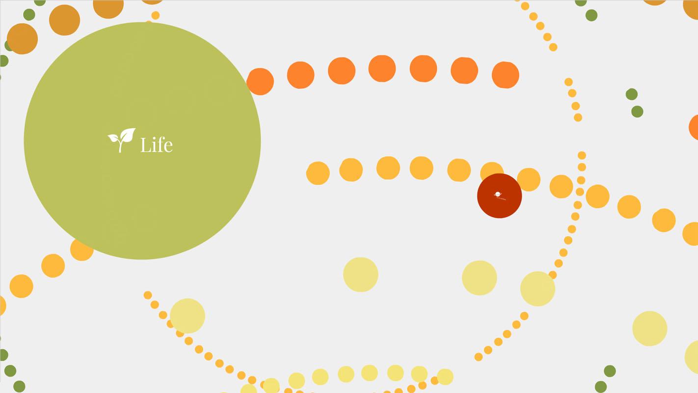 Multiple circles arranged on a circle Prezi template