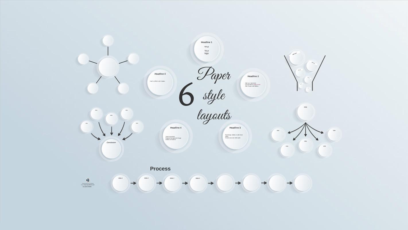 Paper style layout Prezi Template