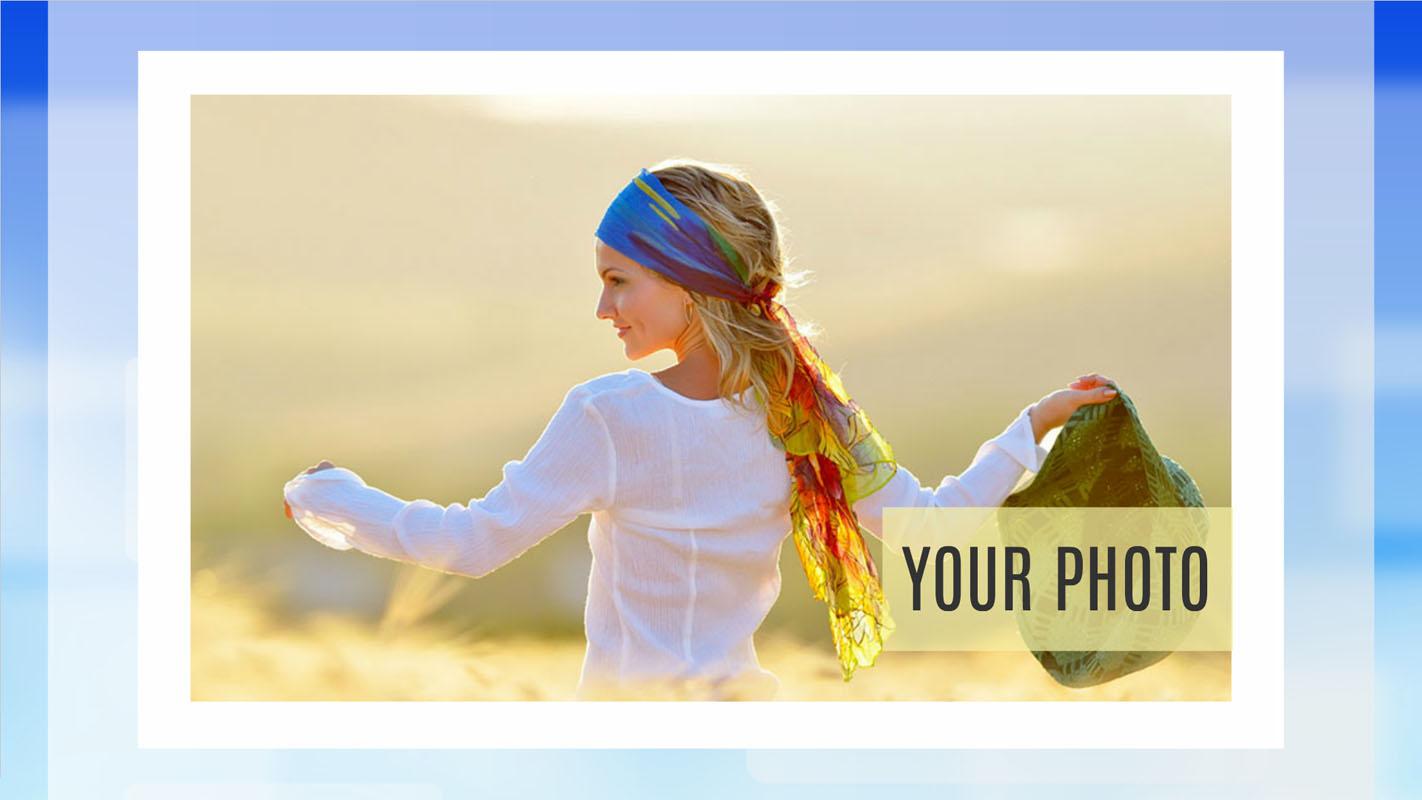 Photo presentation template
