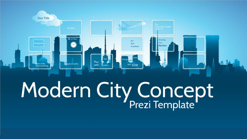 Prezi Template with the city skyline