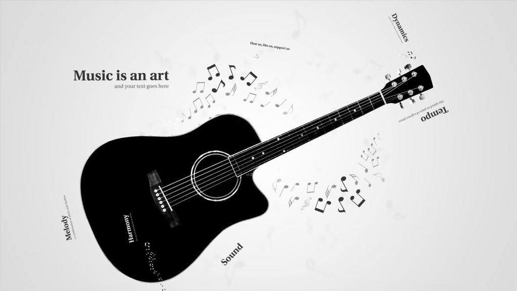 Prezi template for guitar music or any music