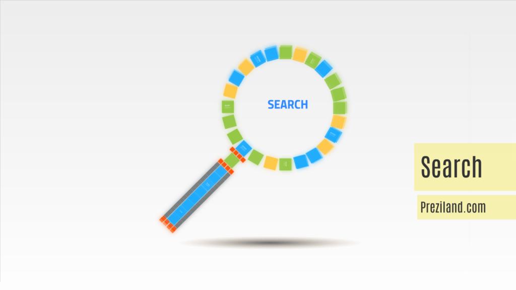 Search Prezi template video