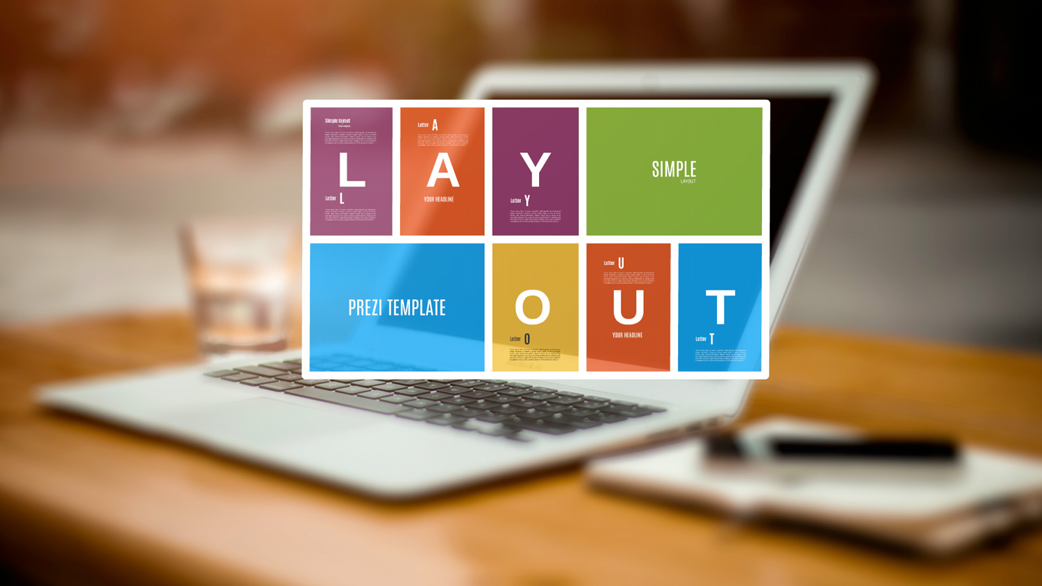 Simple Layout Prezi template from Prezibase