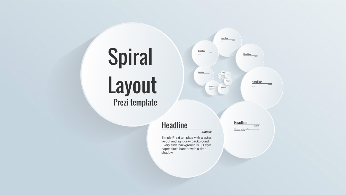 spiral layout prezi presentation template creatoz collection