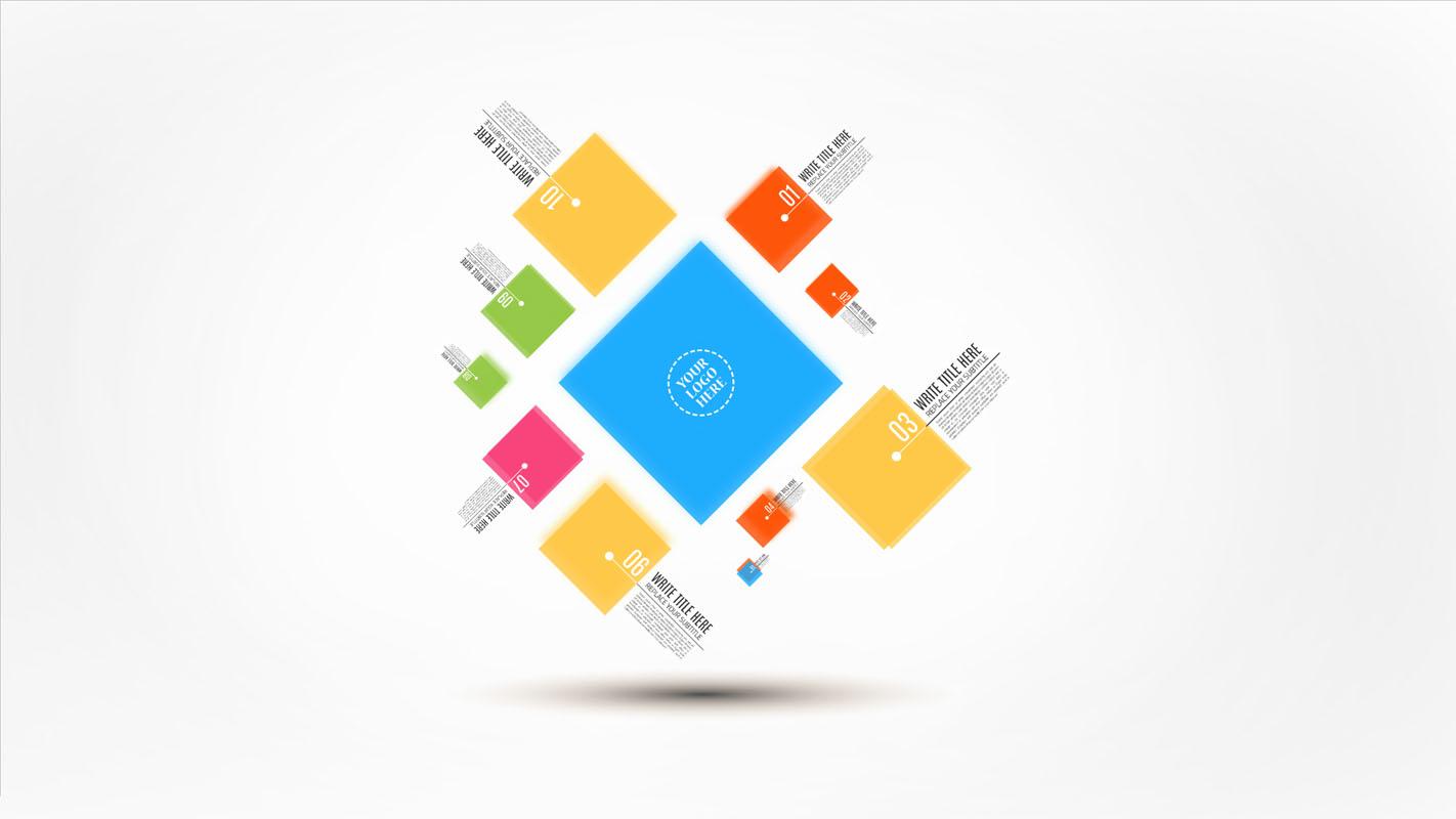 Squares Presentation template