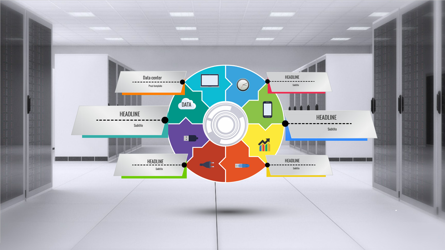 Template with modern Data center