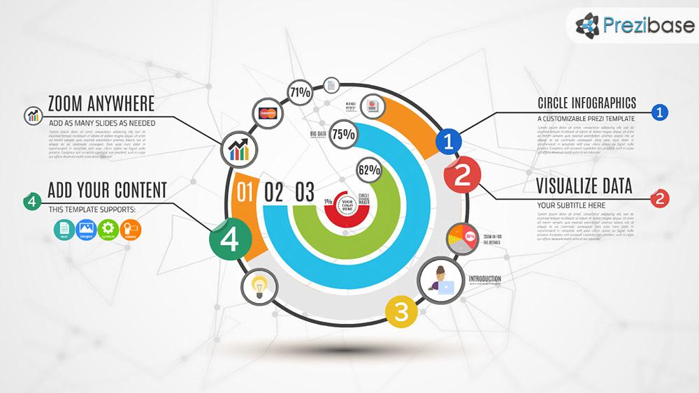 Circle Infographics Maker Prezi Presentation Template Creatoz Collection