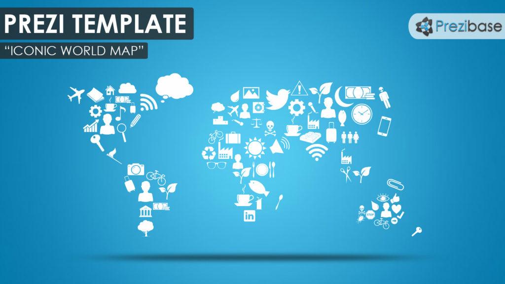 Iconic world map prezi presentation template creatoz collection iconic world map prezi presentation template maxwellsz