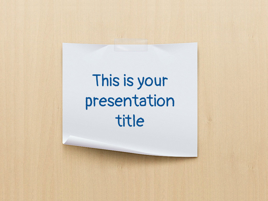Free Powerpoint Template And Google Slides Theme With Paper Sheet