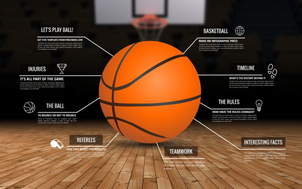 basketball infographic prezi presentation template creatoz