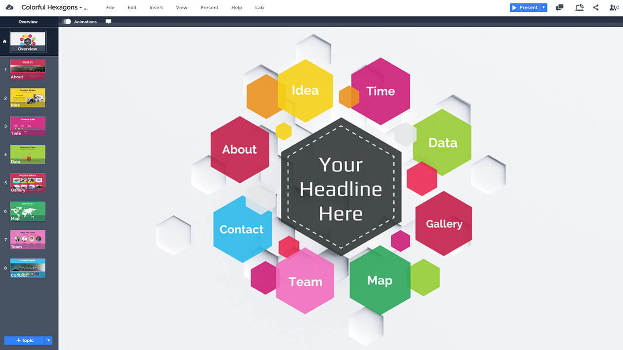 colorful-hexagon-hive-design-prezi-presentation-template-for-design-portfolio