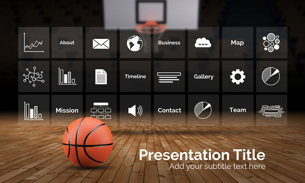 Basketball Prezi Next Template Creatoz Collection