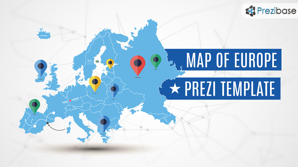 European union creatoz collection europe map prezi presentation template toneelgroepblik Images