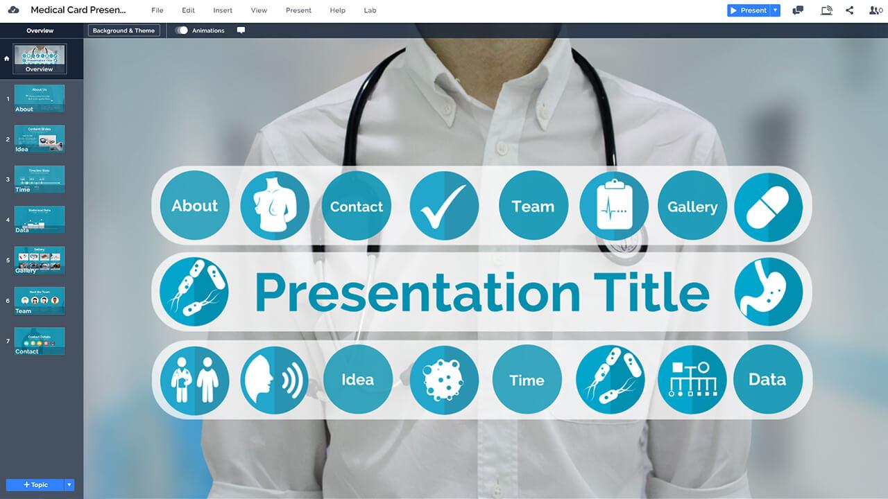медико-презентационный врач-медицинской-Prezi-презентация-шаблон