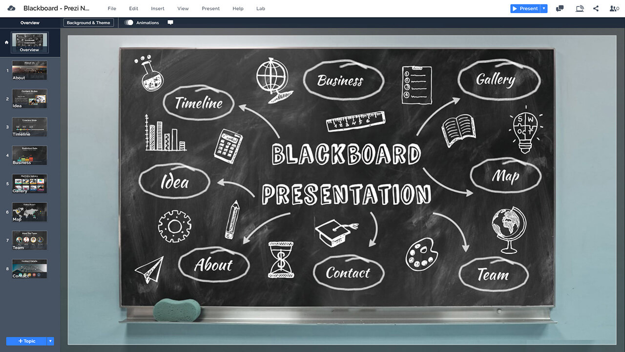 6-black-board-chalkboard-education-teaching-presentation-template-prezi-next-overview-slide