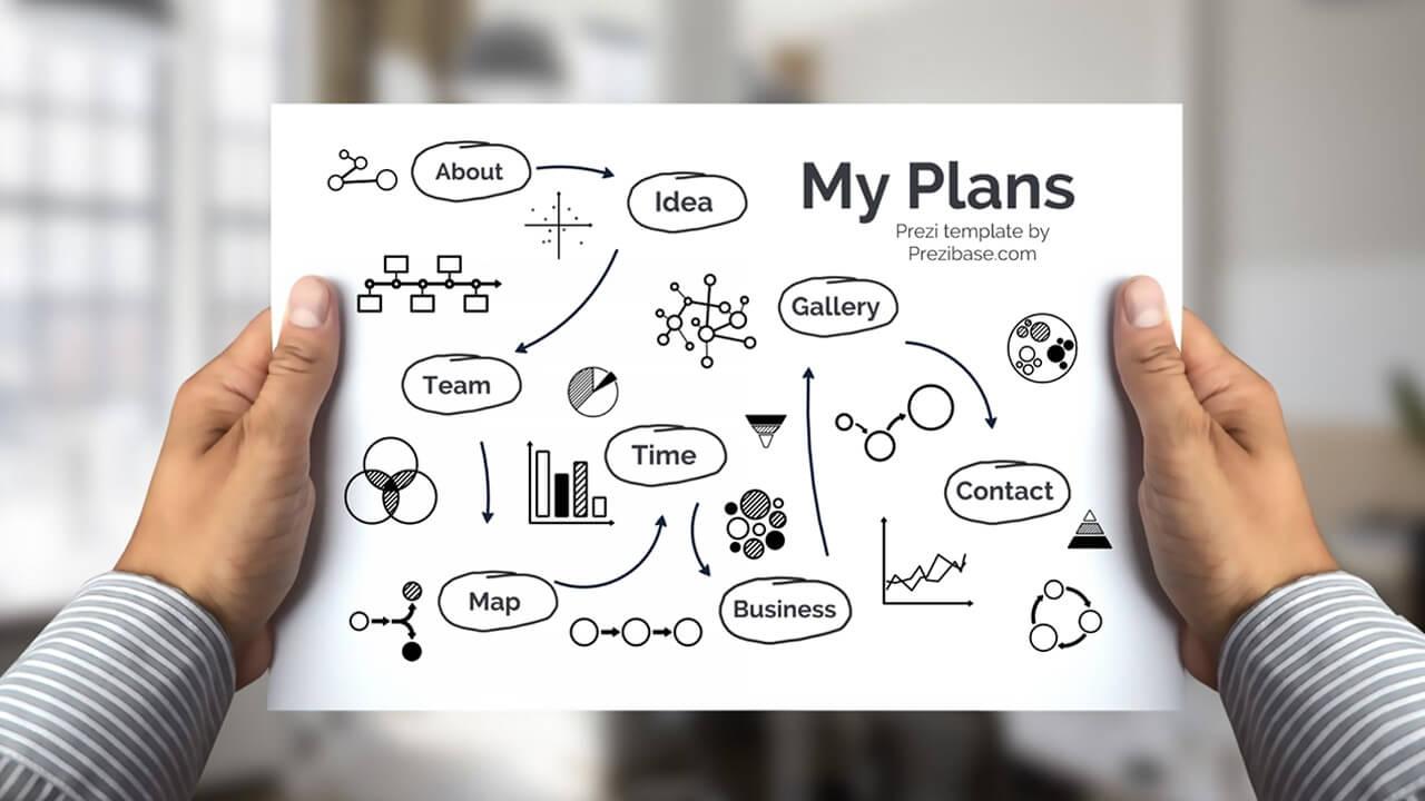 1-business-plan-sketch-on-paper-presentation-template-for-prezi