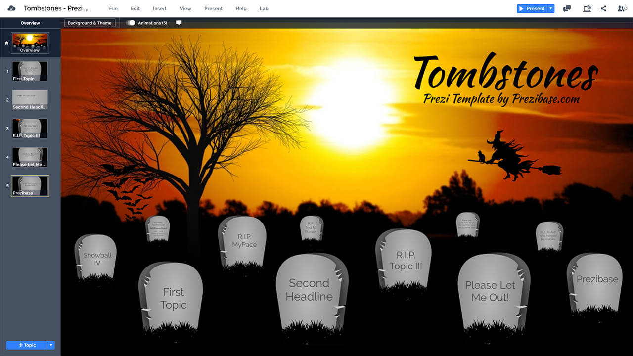 graveyard-tombstones-prezi-presentation-template-for-halloween-witch