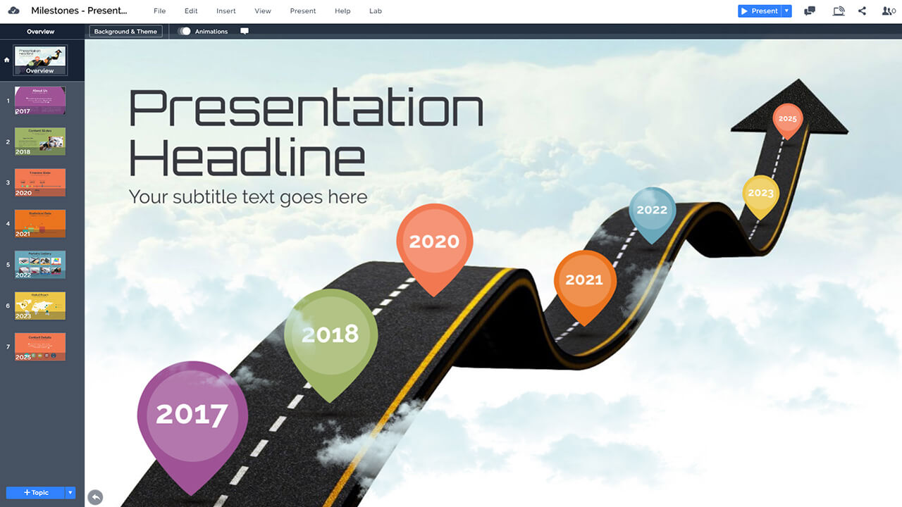 winding-curved-road-in-sky-milestones-timeline-presentation-template-prezi-and-powerpoint
