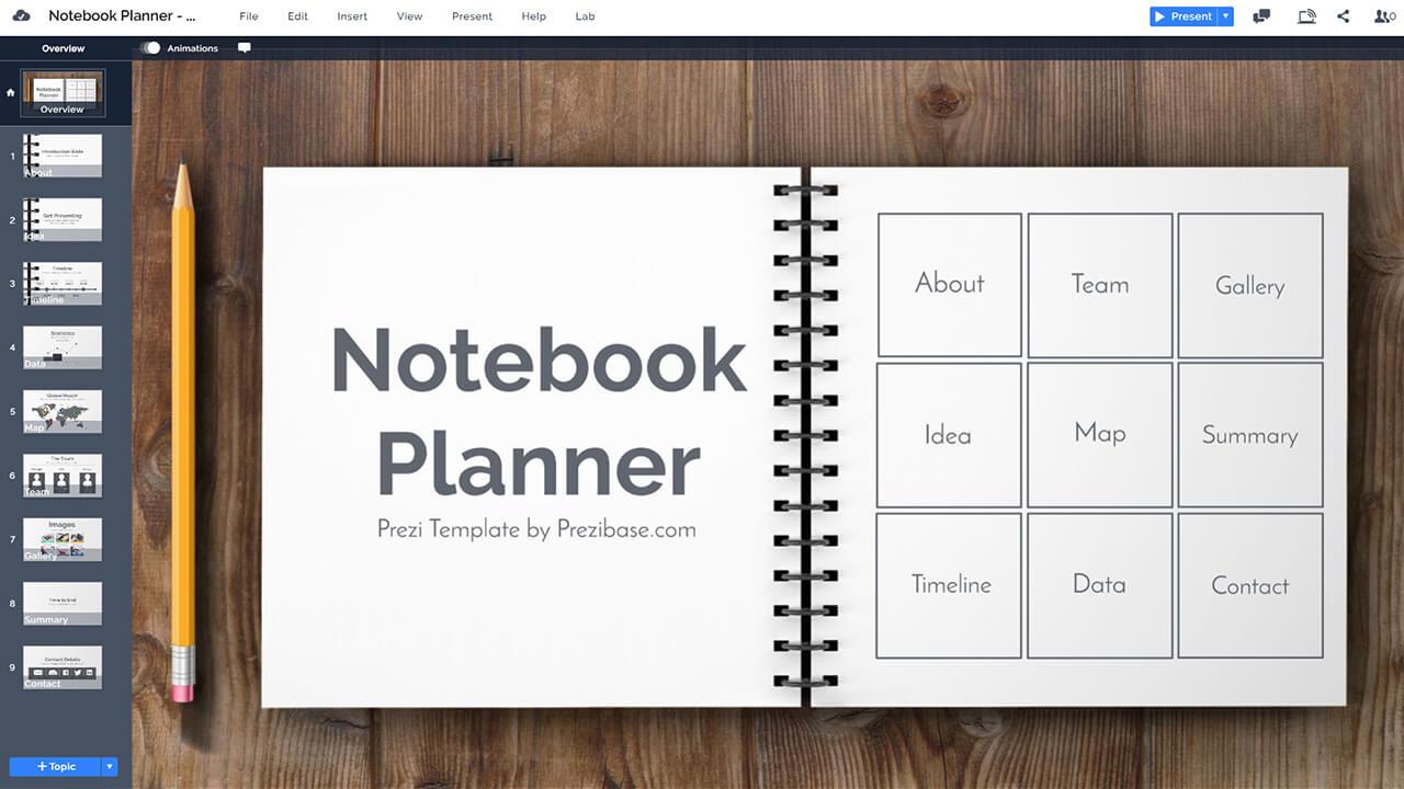 notebook-on-desk-paper-notes-pencil-wood-desk-business-notes-prezi-presentation-template