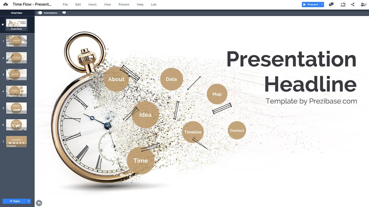 time-flow-particles-clock-sands-of-time-history-prezi-presentation-template
