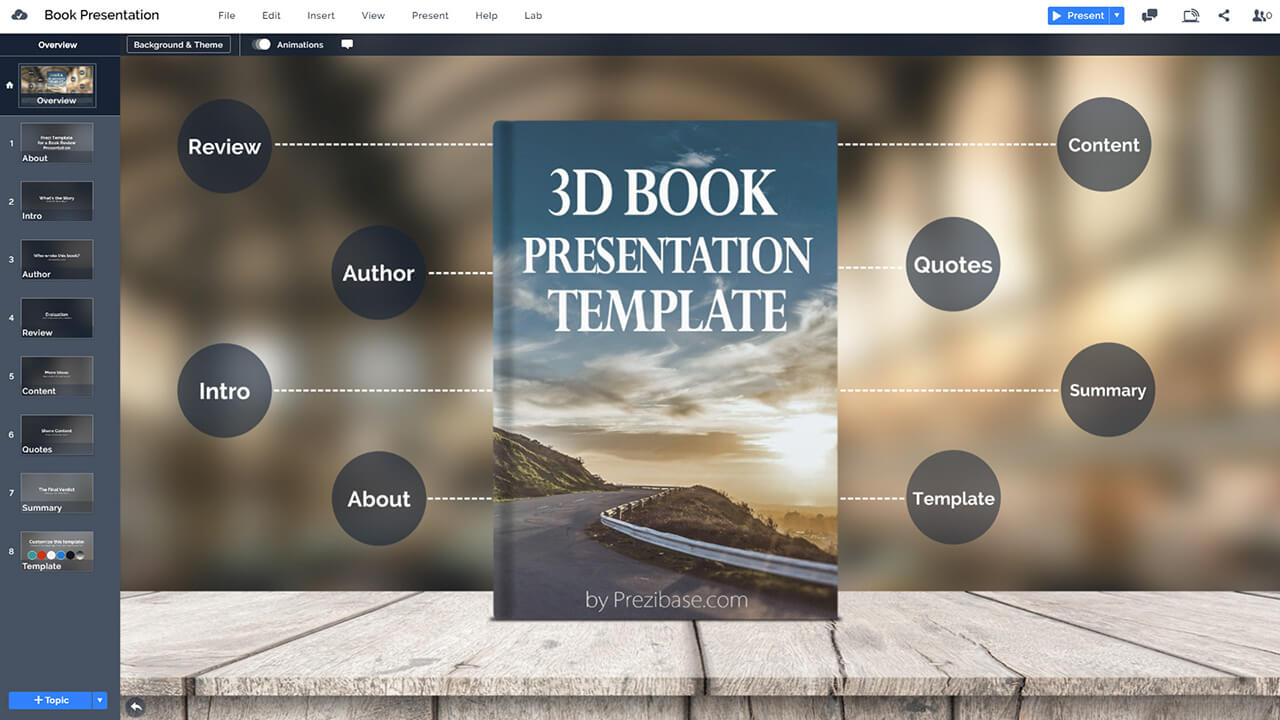 book-display-cover-on-stage-book-review-school-prezi-presentation-template