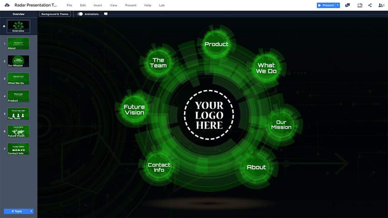3d-green-radar-technology-circle-prezi-presentation-template