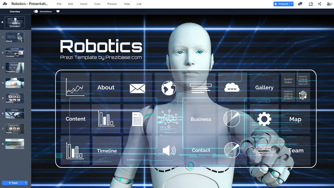 android-robotics-technology-future-prezi-presentation-template
