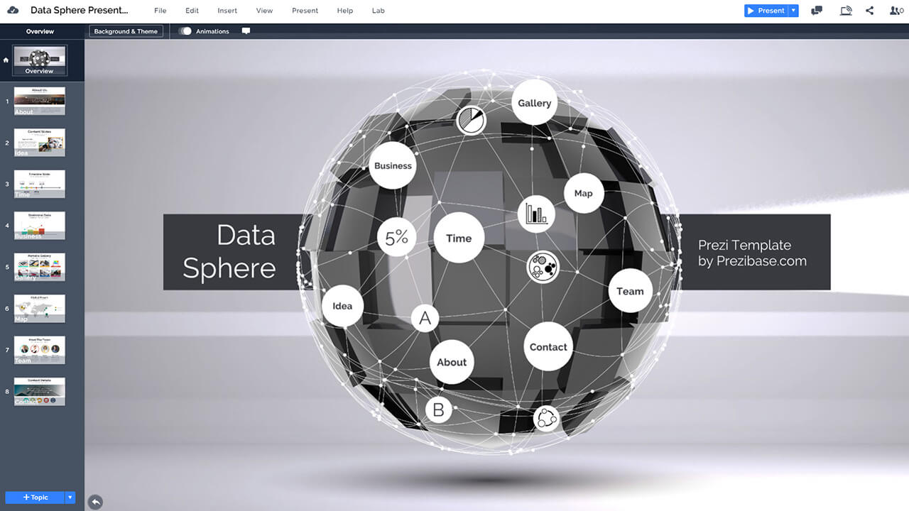 3d-data-sphere-AI-deep-mind-big-data-analysis-presentation-template-for-prezi