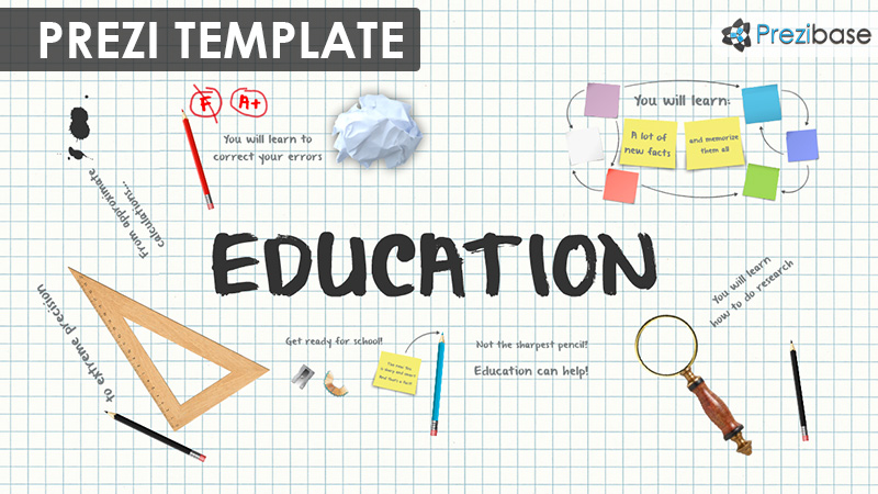 Prezi Templates | Education Prezi Presentation Template Creatoz Collection