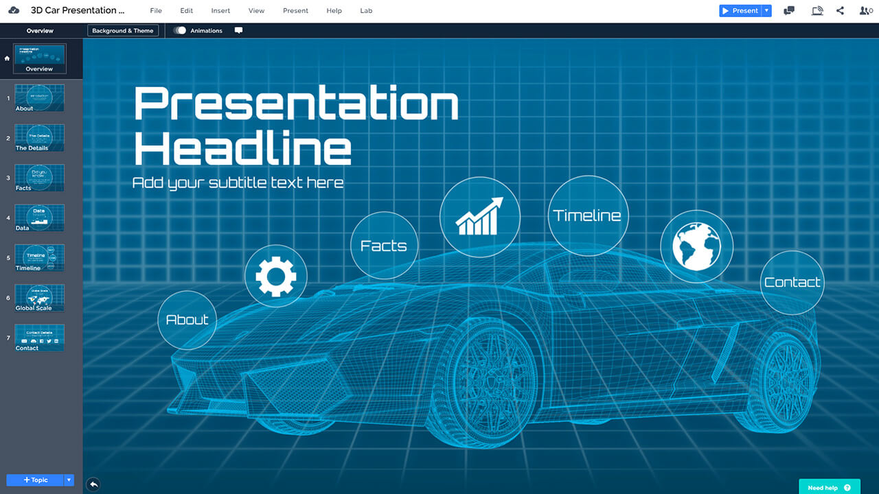futuristic-3d-car-AI-self-driving-autonomous-vehicle-cars-wireframe-presentation-template-powerpoint-prezi