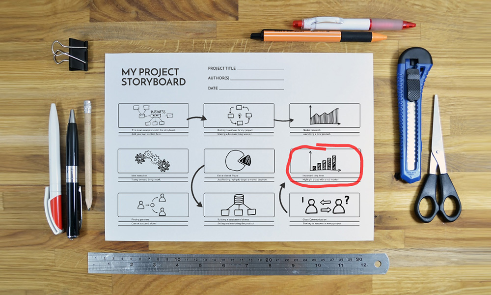 Project Storyboard Prezi Presentation Template Creatoz Collection