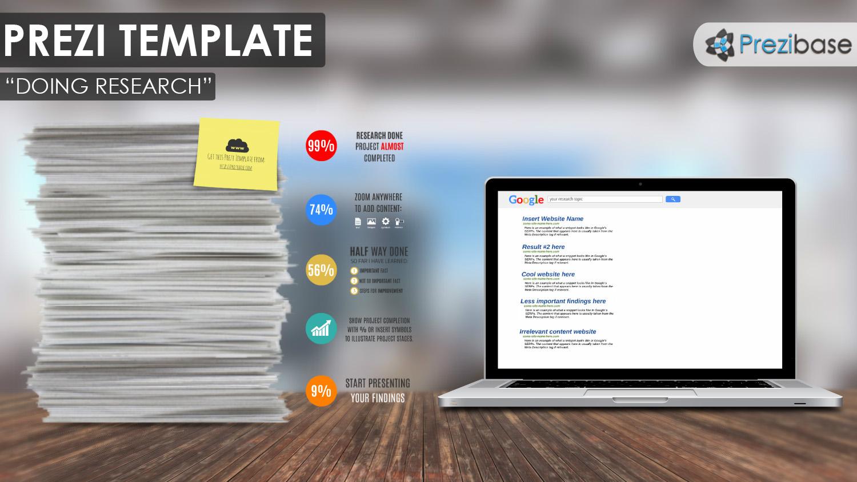 Doing Research Prezi Presentation Template Creatoz Collection