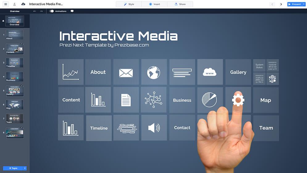 免費的多媒體顯示屏幕,創意prezi-演示模板 -  prezi,下一