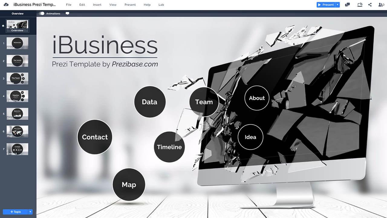 3D業務的iMac顯示器,公司推廣 -  prezi-演示模板