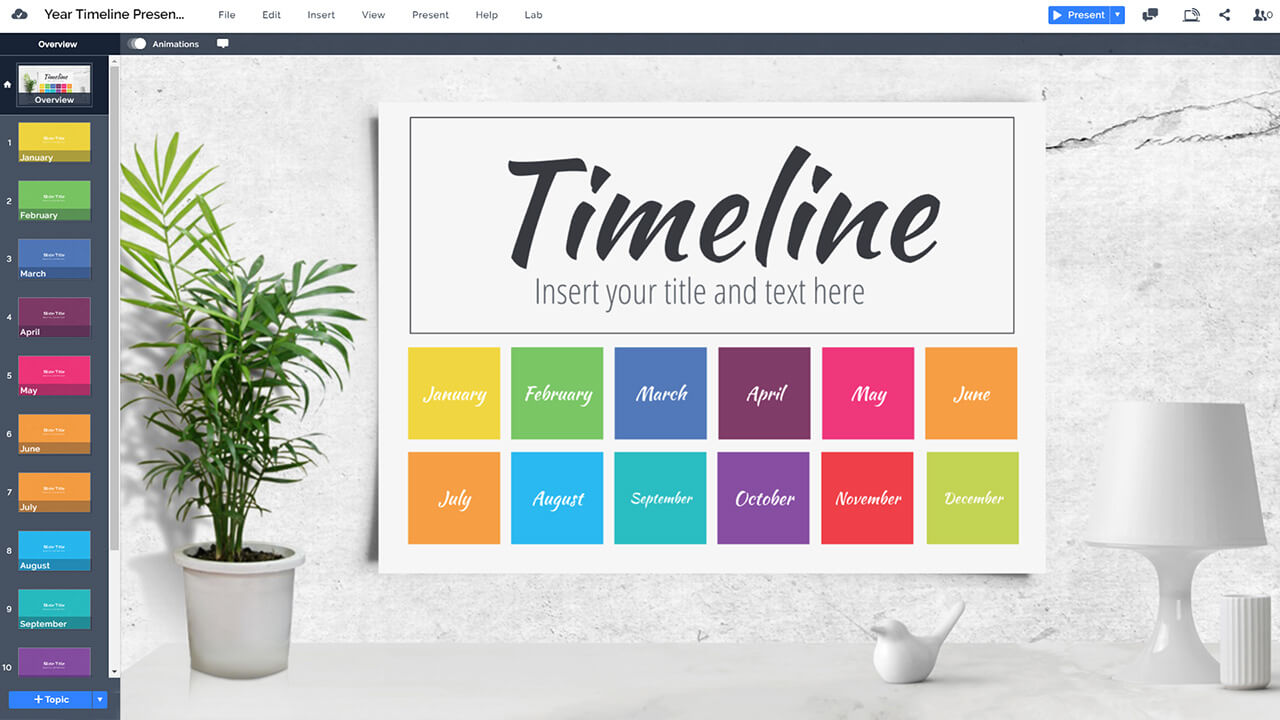 colorful-annual-year-timeline-prezi-presentation-template-calendar-on-wall