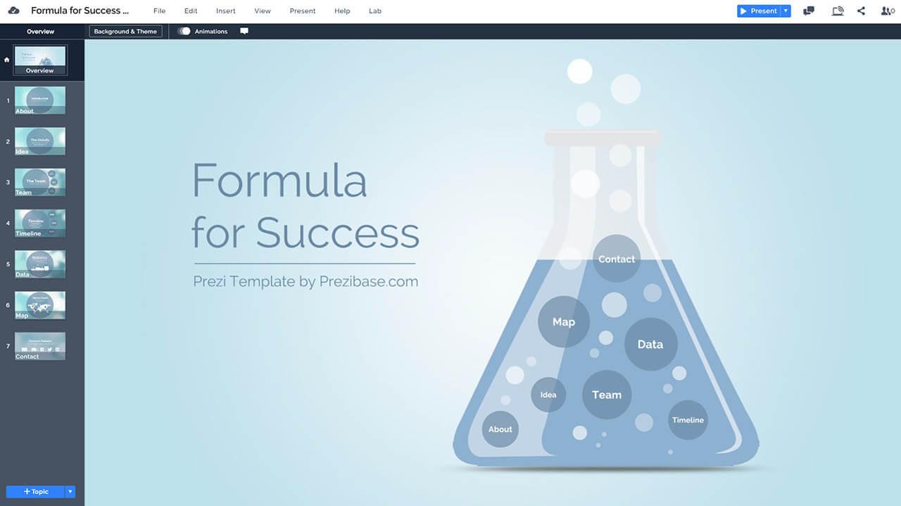 科學燒杯化學成功 -  DNA-prezi-演示模板