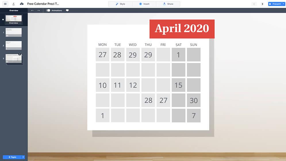 免費日曆prezi-演示模板換prezi,下一