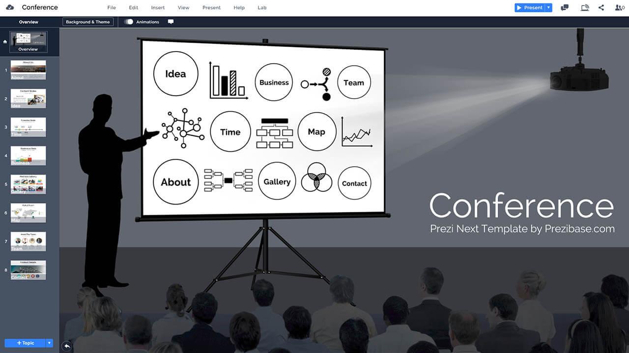 會議公開演講,業務基音prezi-演示模板