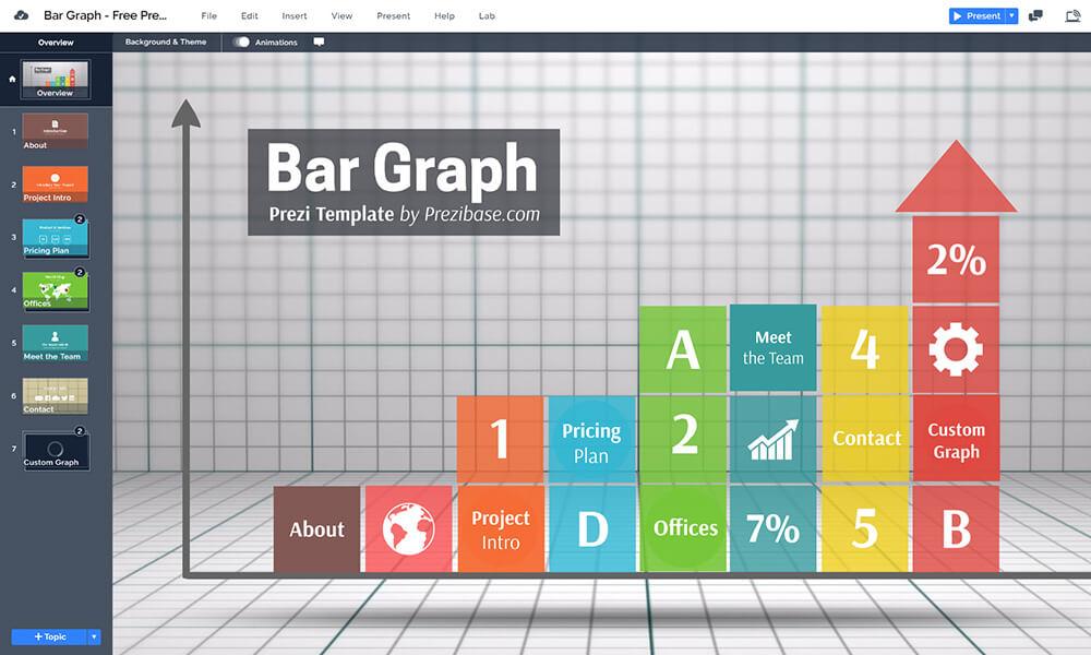 三維條形圖數據 - 信息圖 -  infogram  - 自由prezi-下模板演示