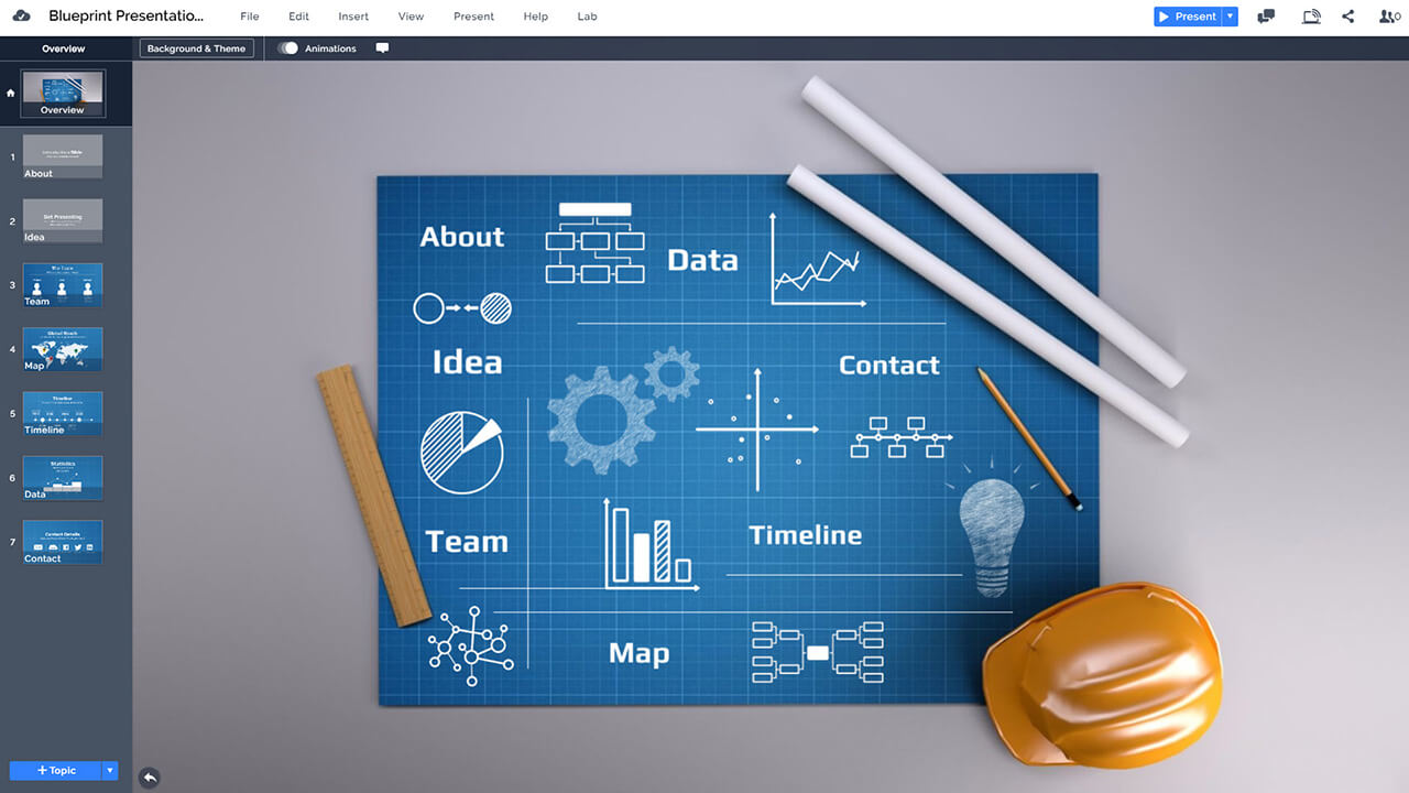 blueprint-engineering-technical-sketch-construction-plan-presentation-template-for-prezi