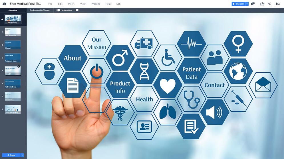 免費醫療保健醫生護士,醫療保健自由prezi-下模板