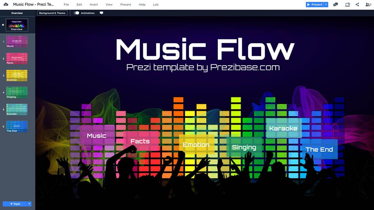 音樂舞蹈夜總會黨 - 人民-DJ-prezi-演示模板